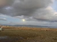 Luna Piena con riflesso della luce del tramonto - Cagliari - 29-11-2020